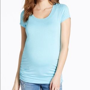 Jessica Simpson Cross B. Maternity Tee- Light Blue